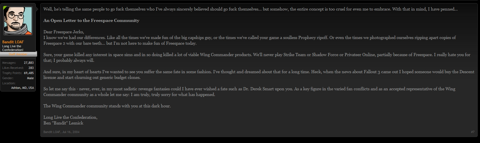 Star Citizen The Fidelity Of Failure Rejeki Tcash Sony Playstation 4 Call Duty Infinite Warfare When Rumors Were Going Around That I Was Attempting To Do A Freespace Game This Is His Comment On Official Forums Last July After My First Blog